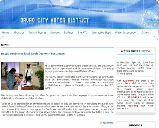 Davao City Water District Website