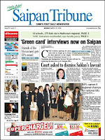 Saipan Tribune front page