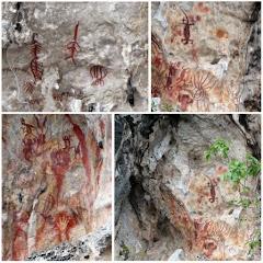 Komunikasi Jaman Dahulu dalam Bentuk Gambar di Dinding Tebing Teluk Triton