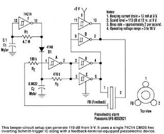 110 db beeper electro,circuit, schema \u0026 datasheet110 db beeper posted by electrocircuit schema