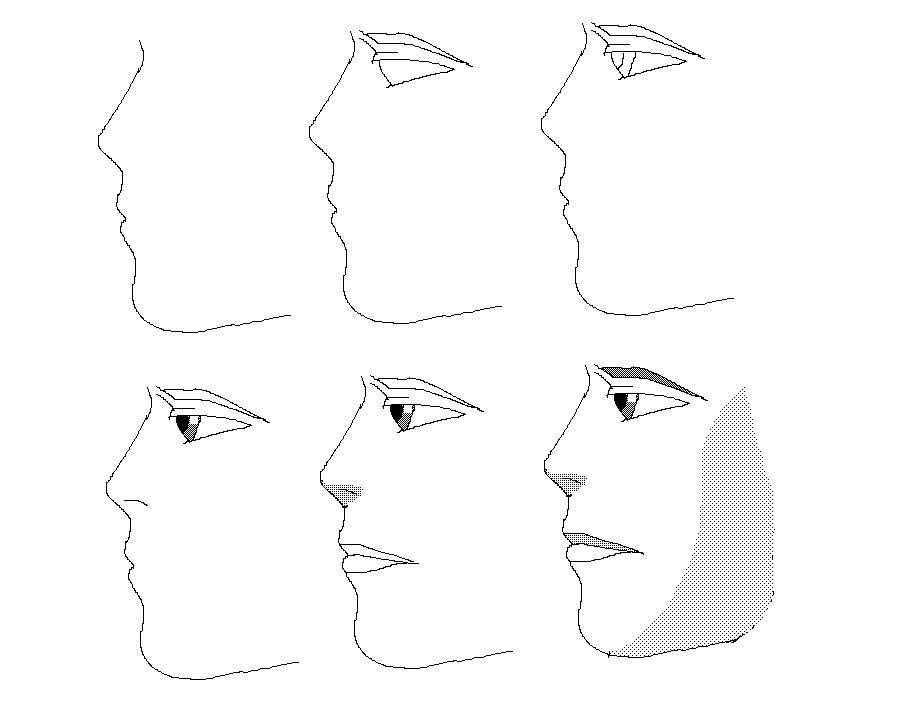 cara menggambar muka manusia 2
