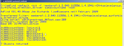 Find Nested Group Members ~ My blog about Active Directory and everything else