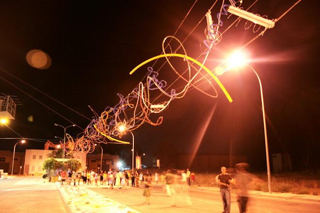 momento de la inauguración  en el Poligono de la Azucarera Graffiti 3D