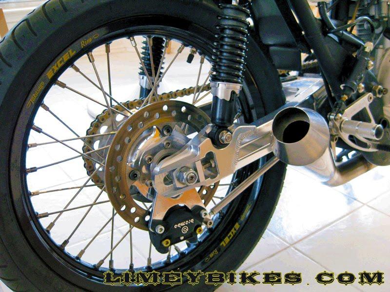 yamaha xs650 cafe racer rear | limeybikes
