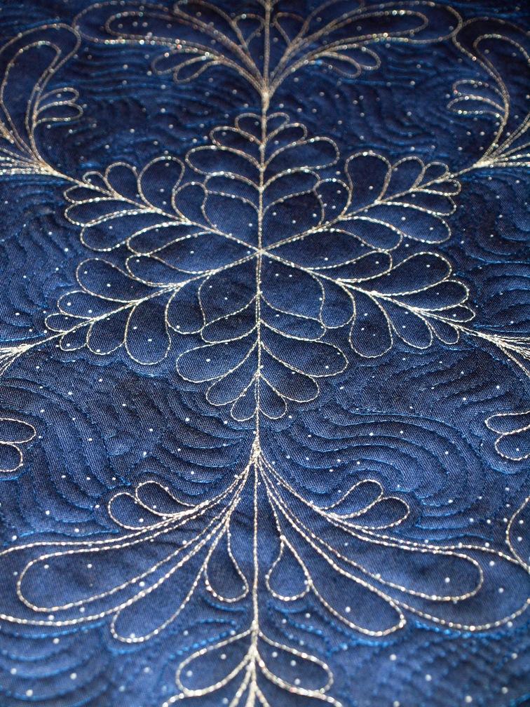 Free Snowflake Quilting Stencil : Sampaguita Quilts: Wholecloth snowflake