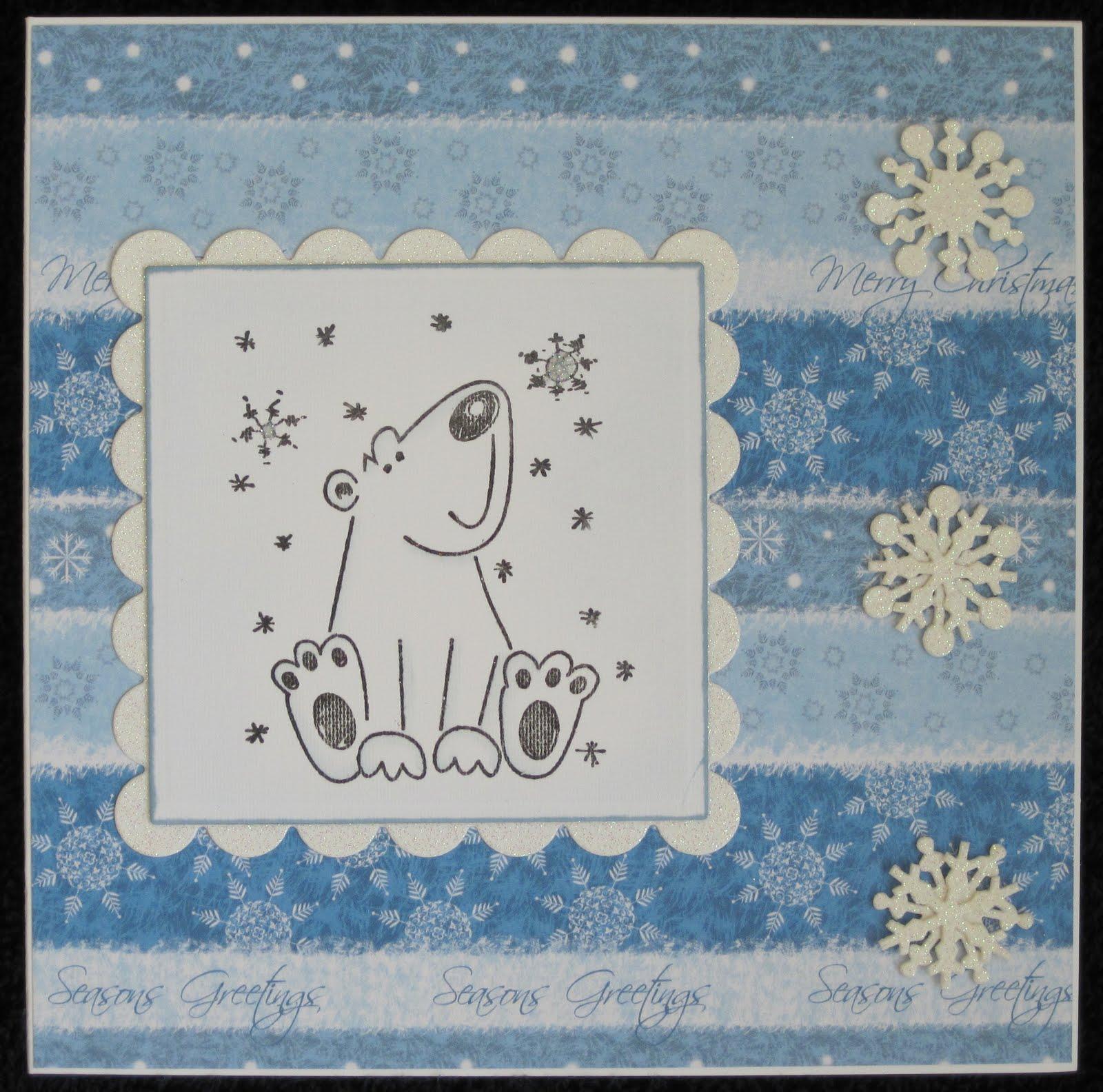 my crafty card creations little polar bear