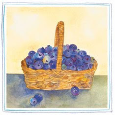 blueberries+in+basket Blueberry Muffins