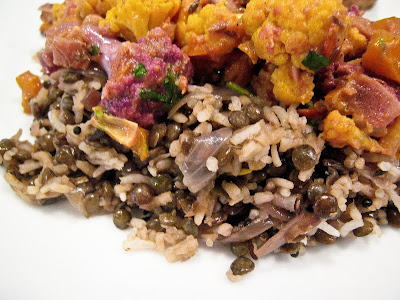 Rice Pilaf with Lentils and Onions