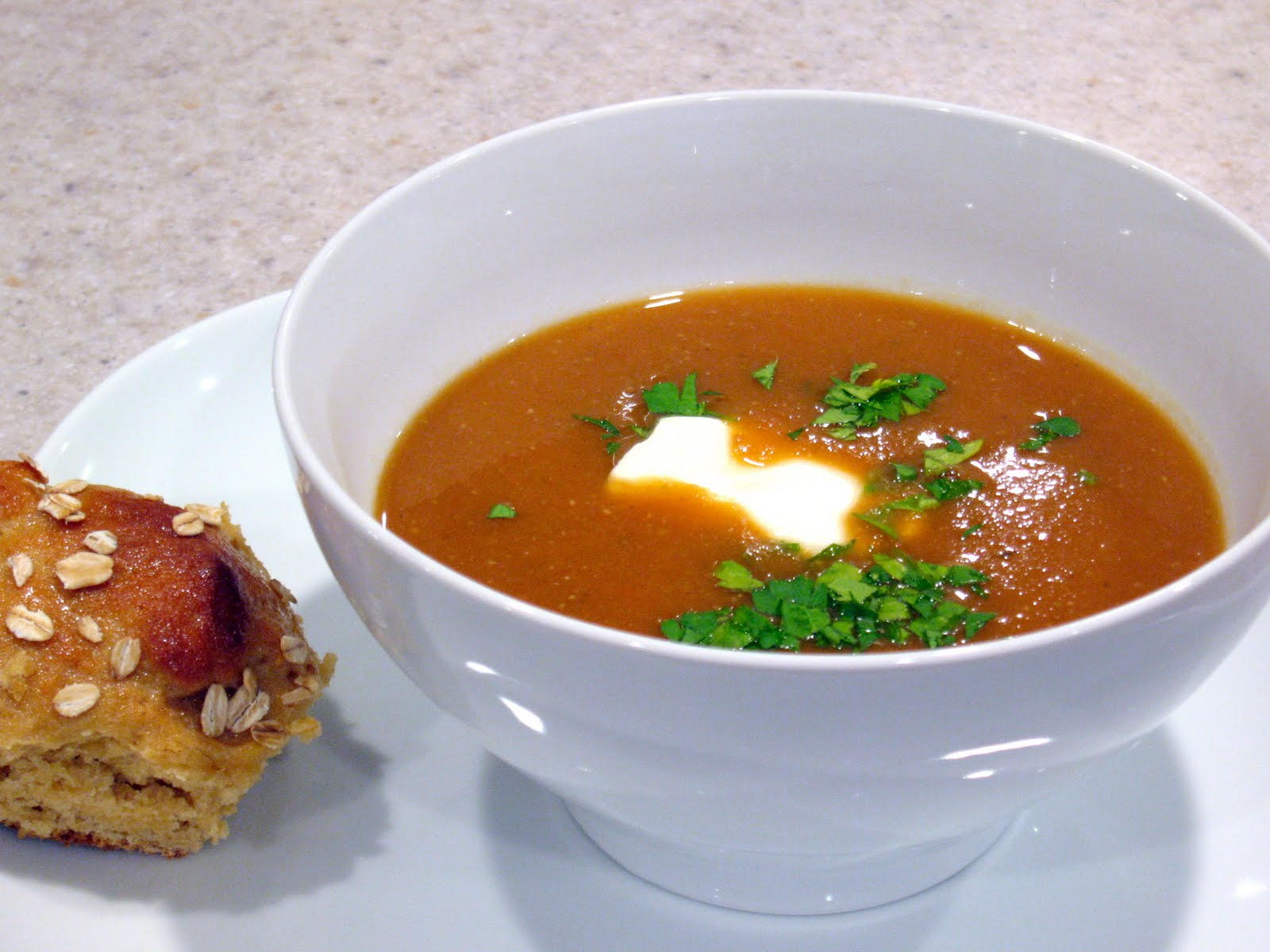 Happy Turkey Day Everyone! Red Lentil Apricot Soup - The Spiced Life
