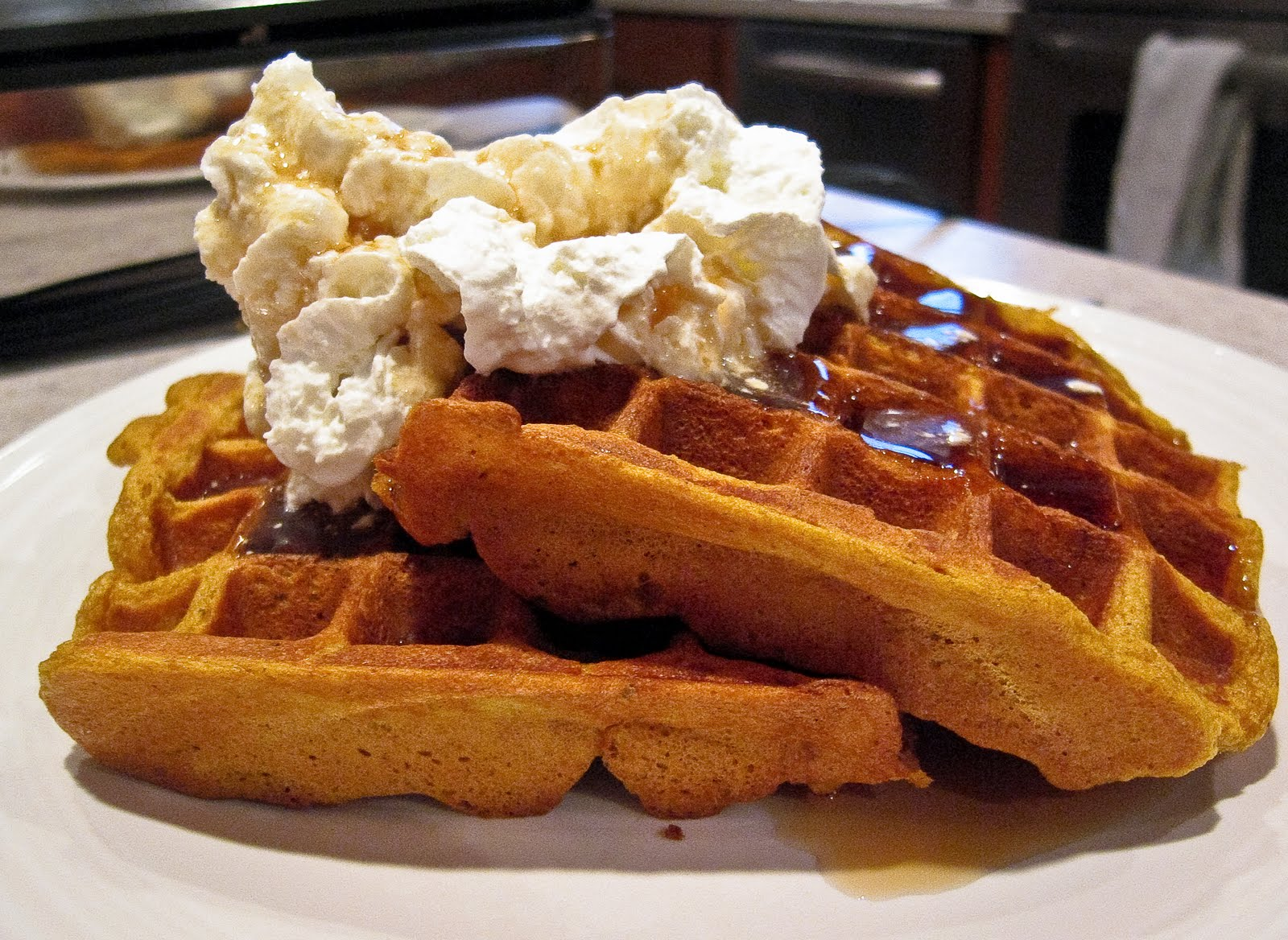 Pumpkin Waffles | The Spiced Life