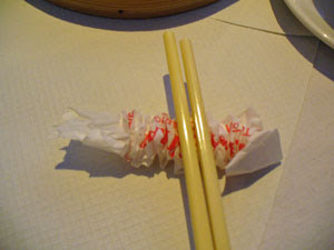 chopsticks rest trick