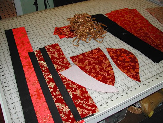 block-fused one yard of the brocade with Palmer/Pletsch Light and ...
