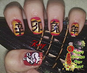 chinesse new years nails