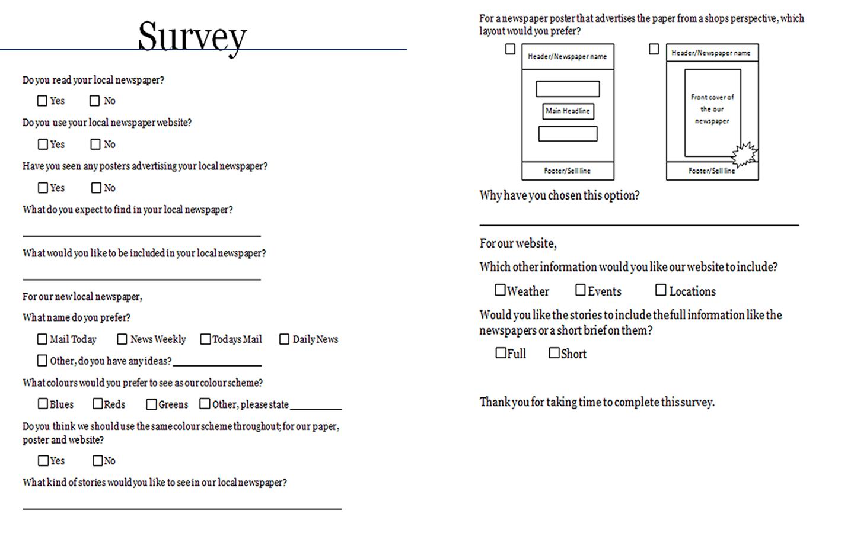 gemma local newspaper survey results