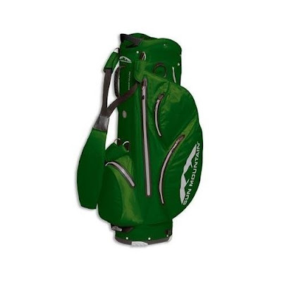 Tulane University Green Wave golf bag colored green and white.