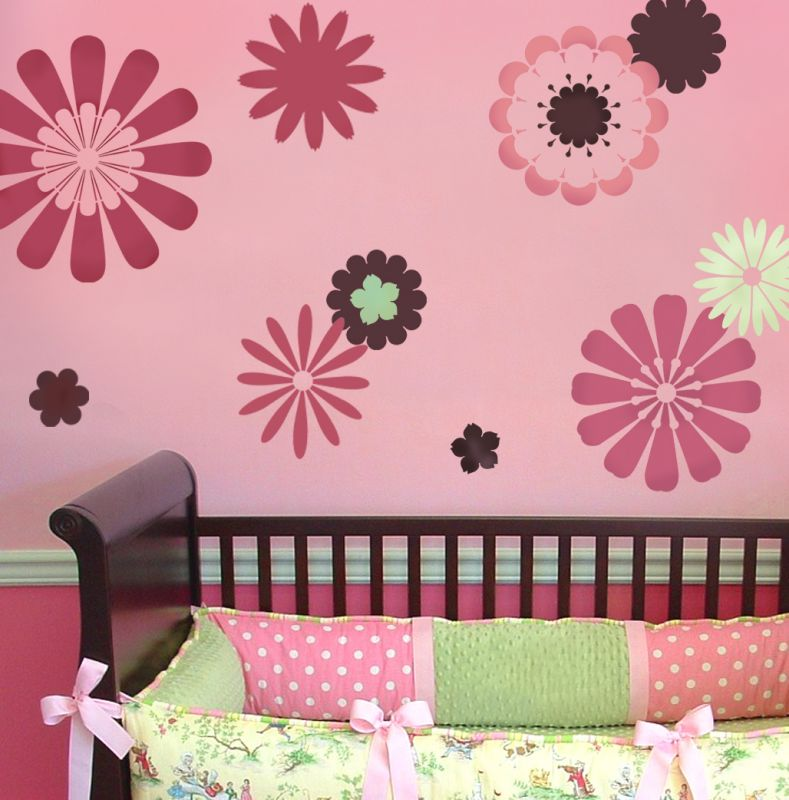 Trendy treehouse cutting edge stencils review giveaway - Flower stencils for walls ...