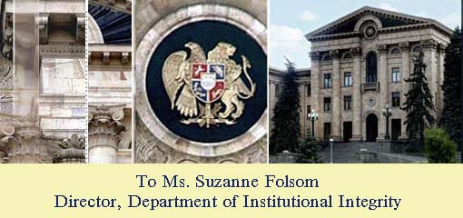 To Suzanne Folsom Director INT