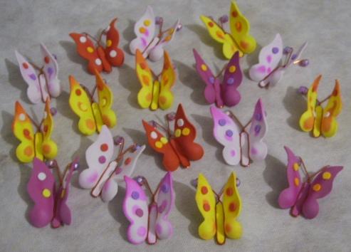 Mariposas en goma eva - Imagui