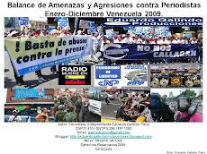 BALANCE DE AMENAZAS Y AGRESIONES CONTRA PERIODISTAS ENERO-DICIEMBRE  2009
