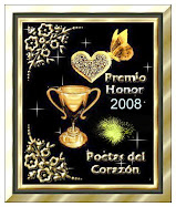 """Premio Honor 2008""""Poetas de Corazòn"""""""