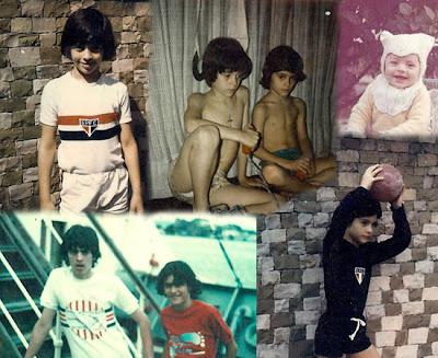 Fotos de infância dos irmãos Busic