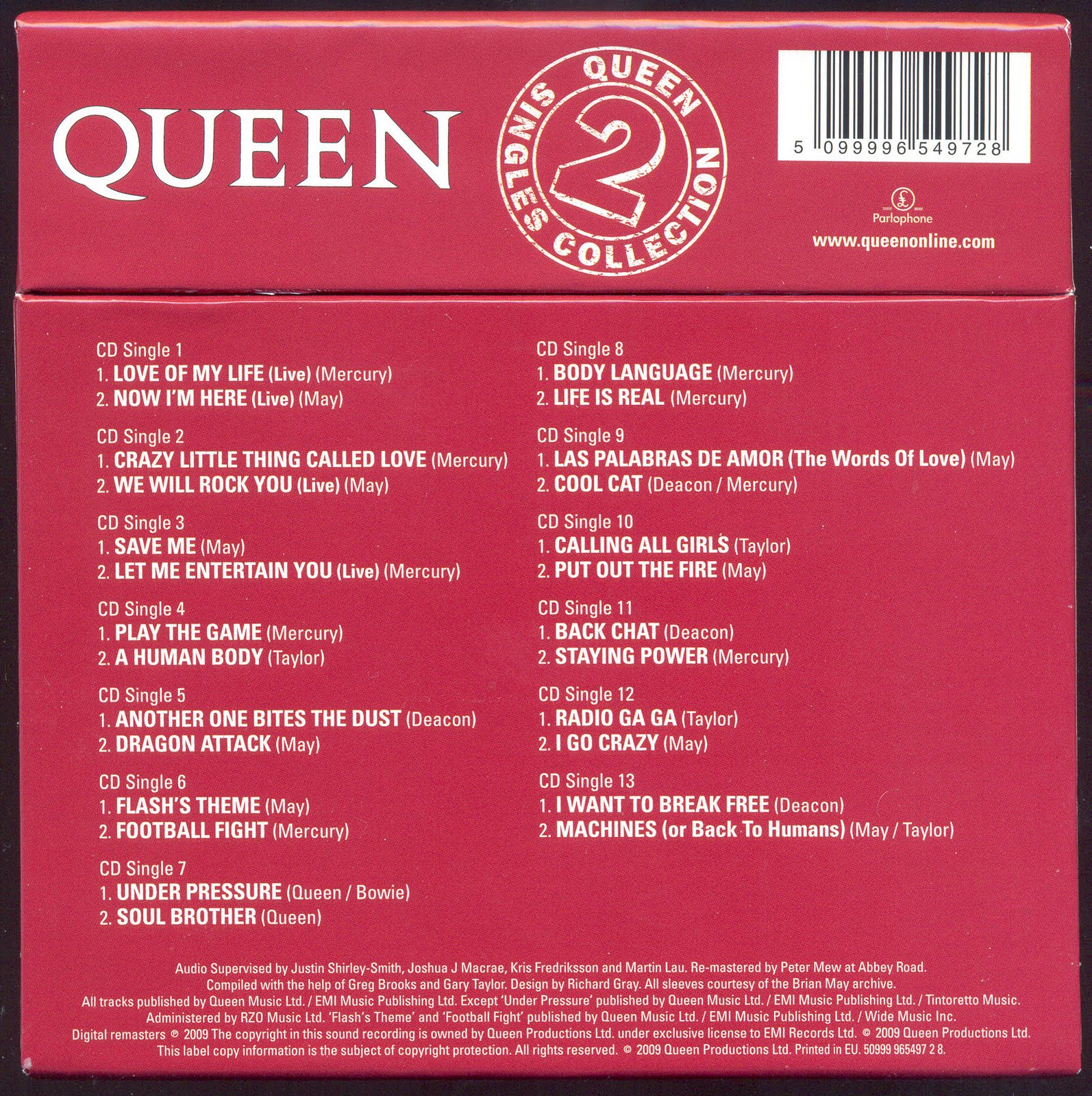 de queen latin singles Top 10 greatest queen songs subscribe:   freddie mercury has written some of the most amazing songs in music history join watchmojocom a.