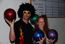 Bowling Coaches Kayo Ogilby and Meghan Detering after a hard workout in the 2008 dryland season.