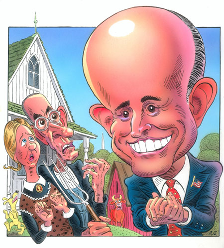 Giuliani in Grant Wood Land