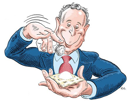 BLOOMBERG SALTS A SALTINE
