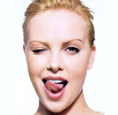 charlize theron tongue