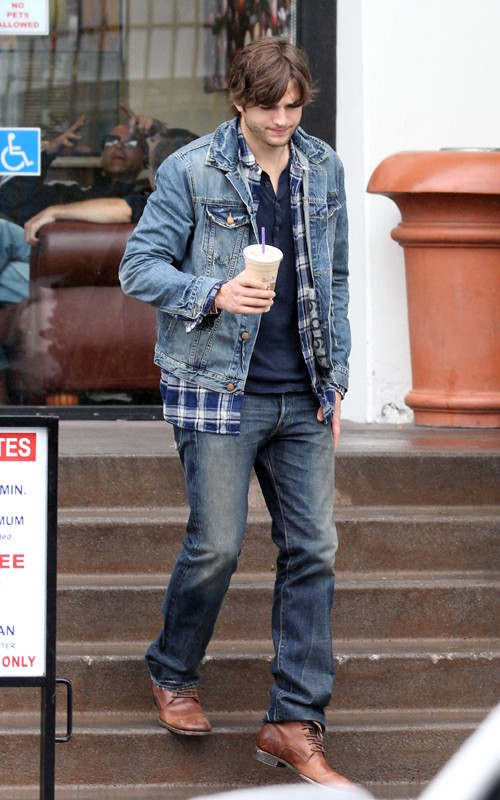 ashton kutcher jeans. Ashton Kutcher in Double Denim