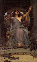 'Circe Totally Pwning Odysseus at Immortal Wombat 5, D00d!', by John William Waterhouse