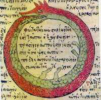 Ouroboros by Theodoros Pelecanos (1478) - scanned by Carlos Adanero for Wikipedia Commons - public domain