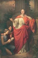 Portrait of Jadwiga Łuszczewska as Diotima by Józef Simmler - public domain, via Stefania Krzysztofowicz-Kozakowska at Wikimedia Commons