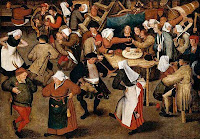 The Wedding Dance in a Barn, by Pieter Brueghel the Younger (1564-1638) - public domain, via Wikimedia Commons