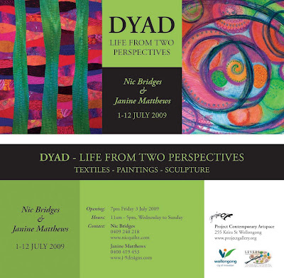 Dyad - a exhibition by Nic Bridges and Janine Matthews