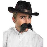 Gambler self adhesive mustache