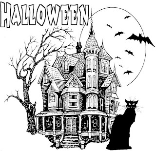 Free Halloween Coloring Pages Haunted House Coloring Pages