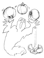 ghosts pumpkin coloring pages