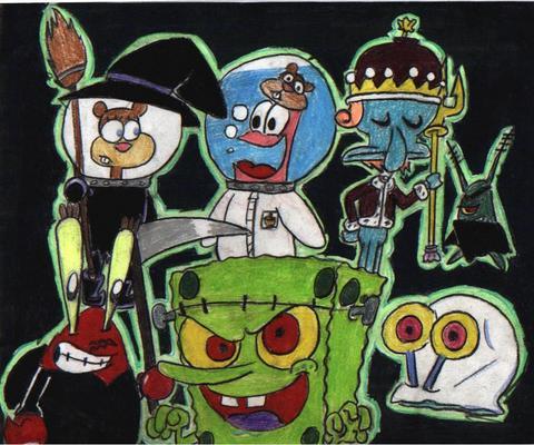 Halloween backgrounds 2017: Spongebob Squarepants Halloween Backgrounds