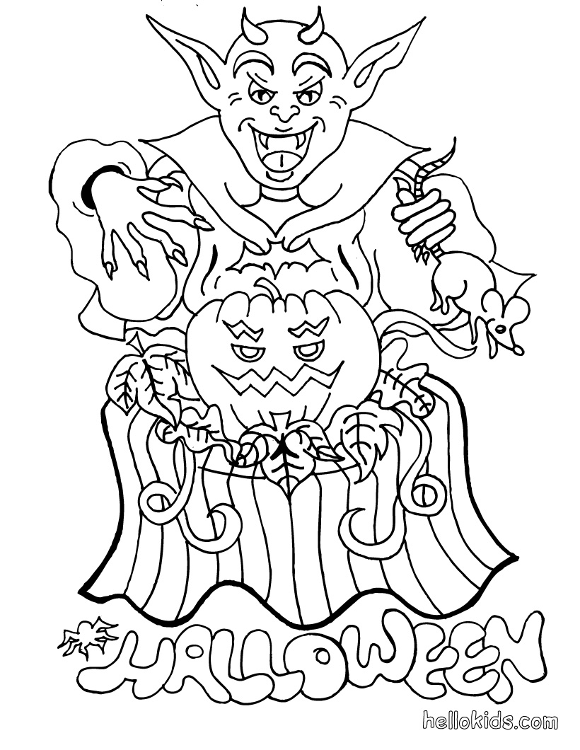 Halloween Hidden Picture Color Pages http://halloweencoloringpages.blogspot.com/2010_09_01_archive.html