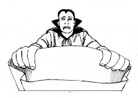 halloween dracula coloring page
