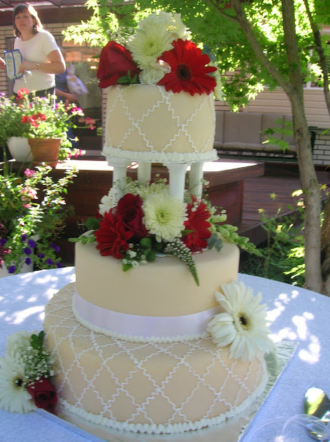 Piece of Cake: Ivory, White, and Red Wedding