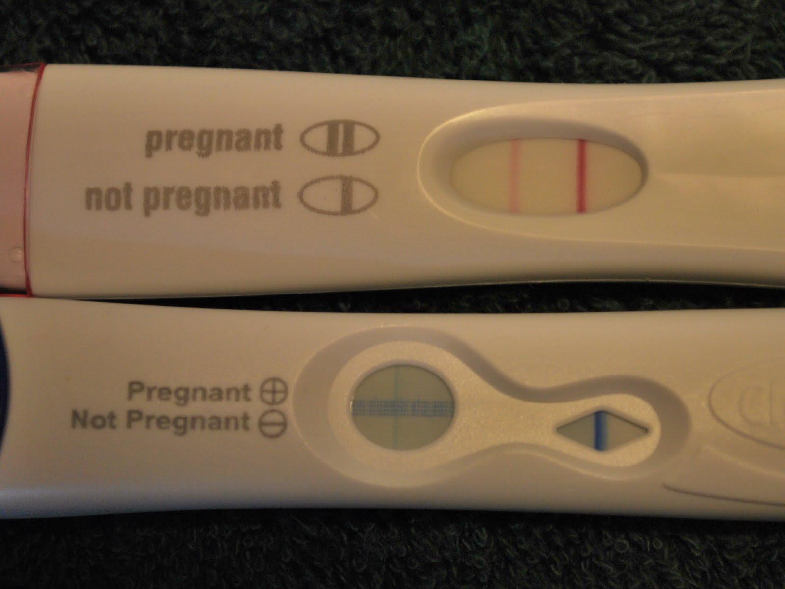Photos of positive home pregnancy test