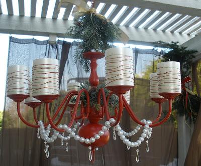 DIY holiday chandelier