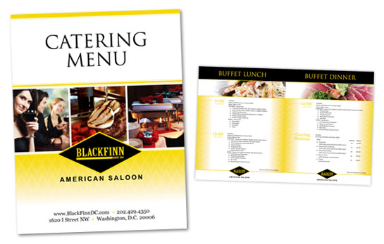 Food brochures bistro catering menu brochure for Catering brochure templates