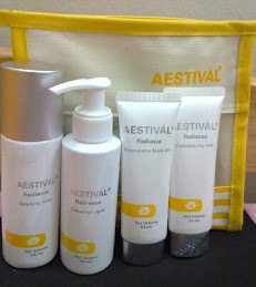 Aestival Radiance whitening skincare set pre-launch
