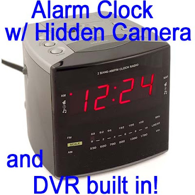 Alarm clock with Hidden Cameras