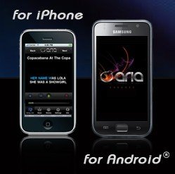ARIA Mobile Karaoke for iPhone and Android phones