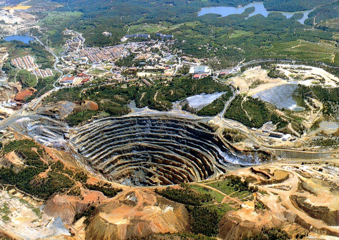 Mapa de minas a cielo abierto en wv